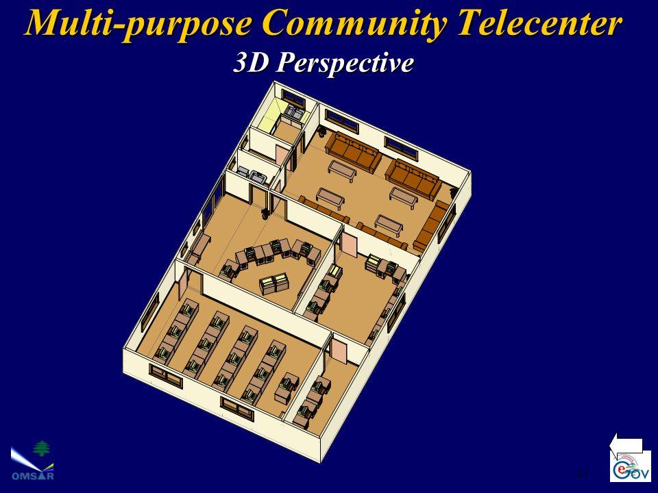 21 Multi-purpose Community Telecenter 3D Perspective