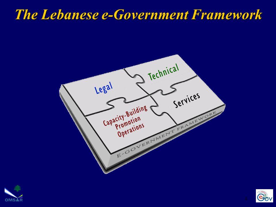 4 The Lebanese e-Government Framework