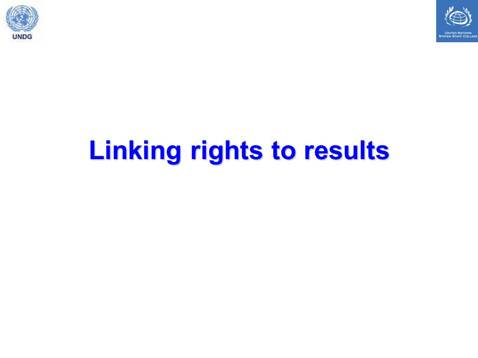 Linking rights to results