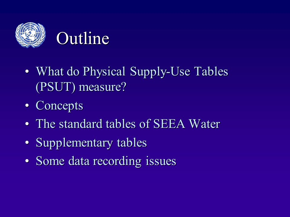Outline What do Physical Supply-Use Tables (PSUT) measure?What do Physical Supply-Use Tables (PSUT) measure.