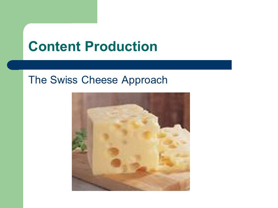 Content Production The Swiss Cheese Approach