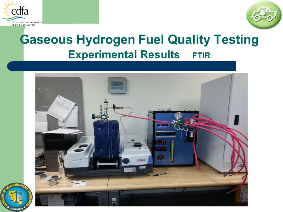 Gaseous Hydrogen Fuel Quality Testing Experimental Results FTIR
