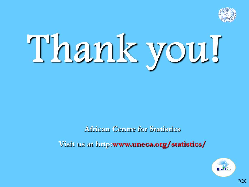 20 Thank you! African Centre for Statistics Visit us at http:www.uneca.org/statistics/ 20