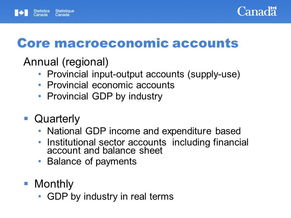 Provincial Input-Output Accounts