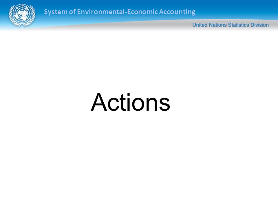 System of Environmental-Economic Accounting Actions