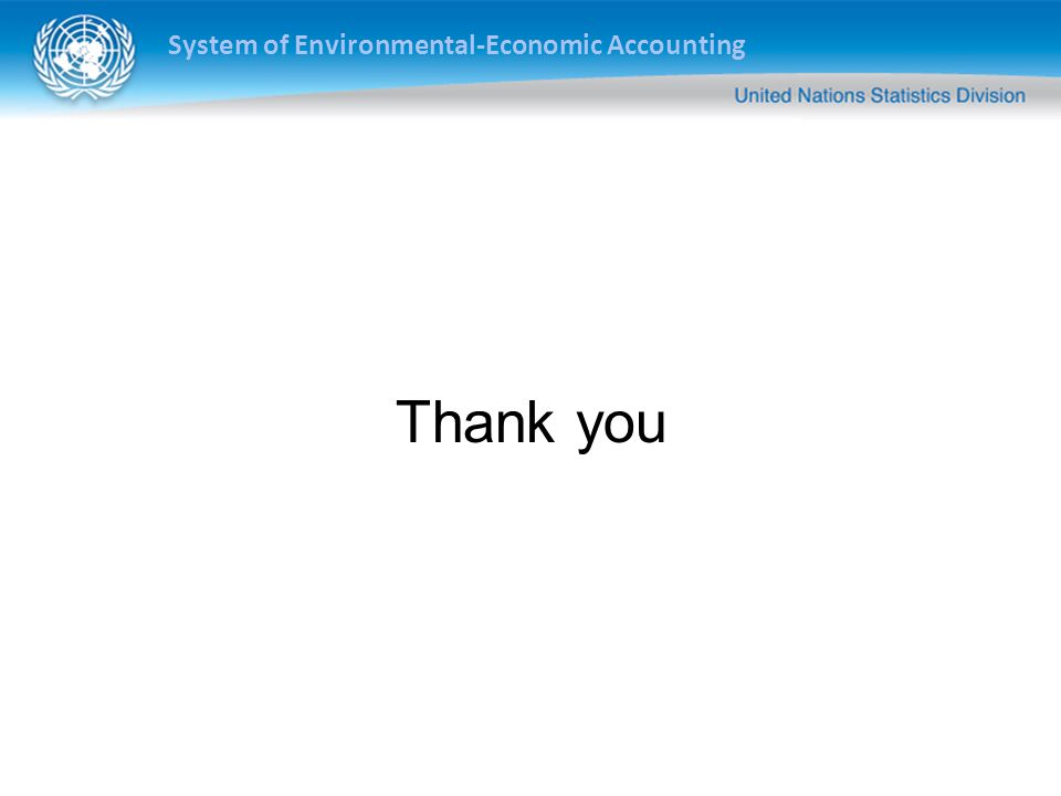 System of Environmental-Economic Accounting Thank you