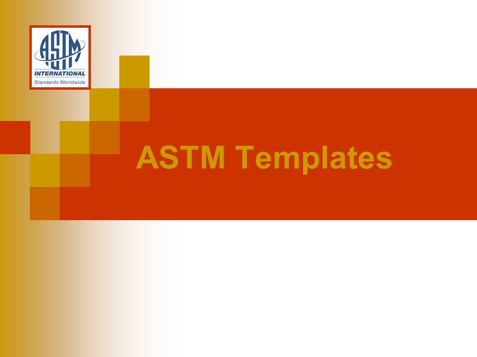 ASTM Templates