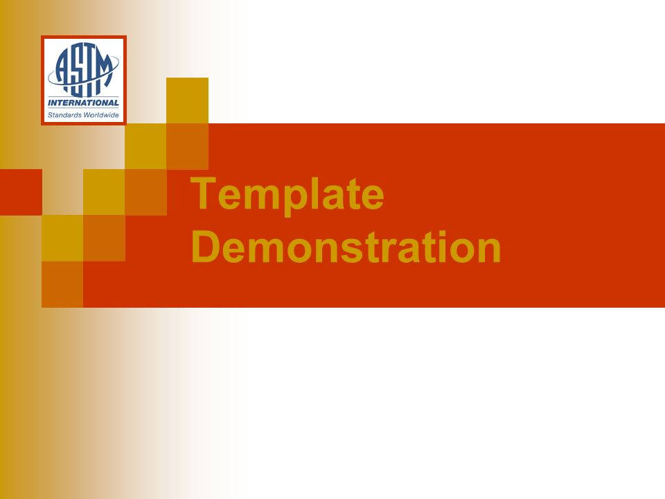Template Demonstration