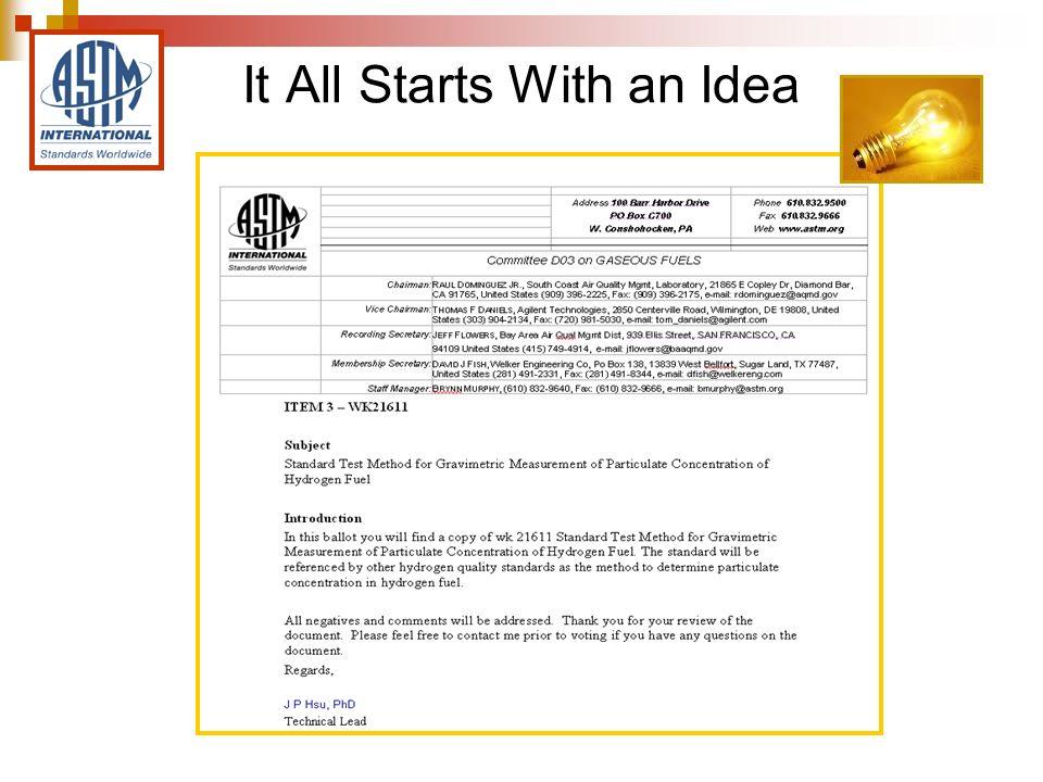 My ASTM Work Item Summary