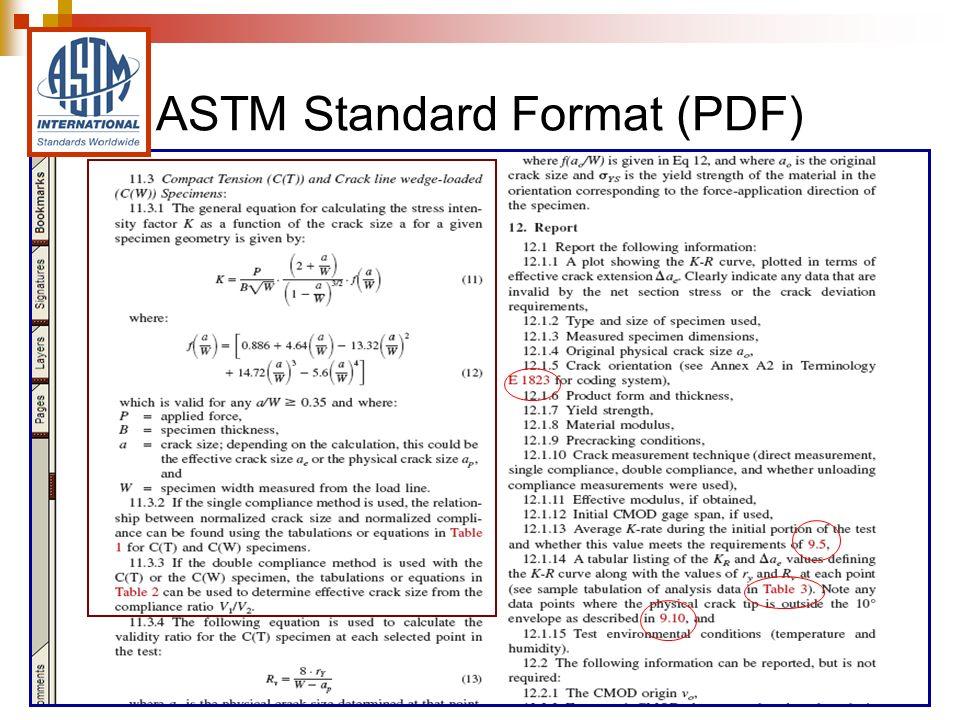 ASTM Standard Format (PDF)