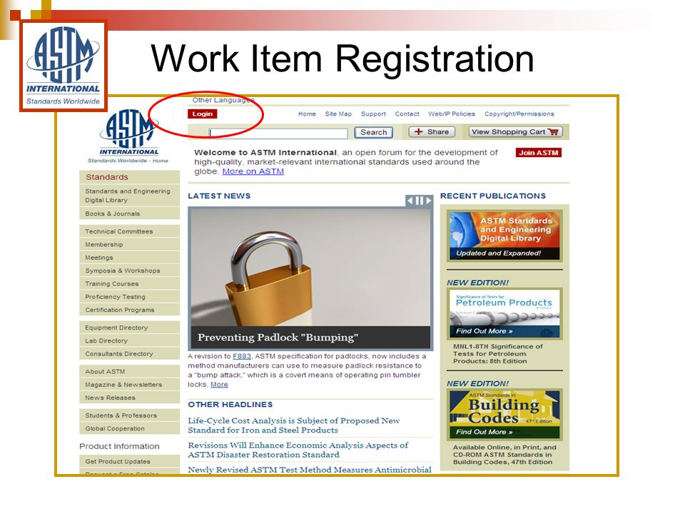 Work Item Registration