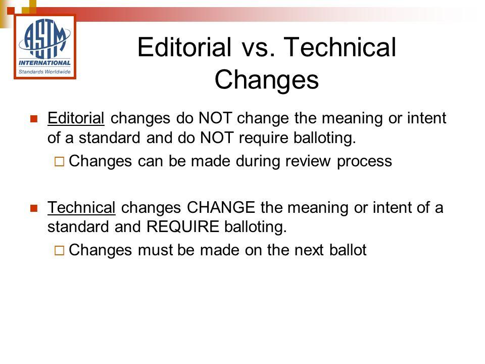 Editorial vs.