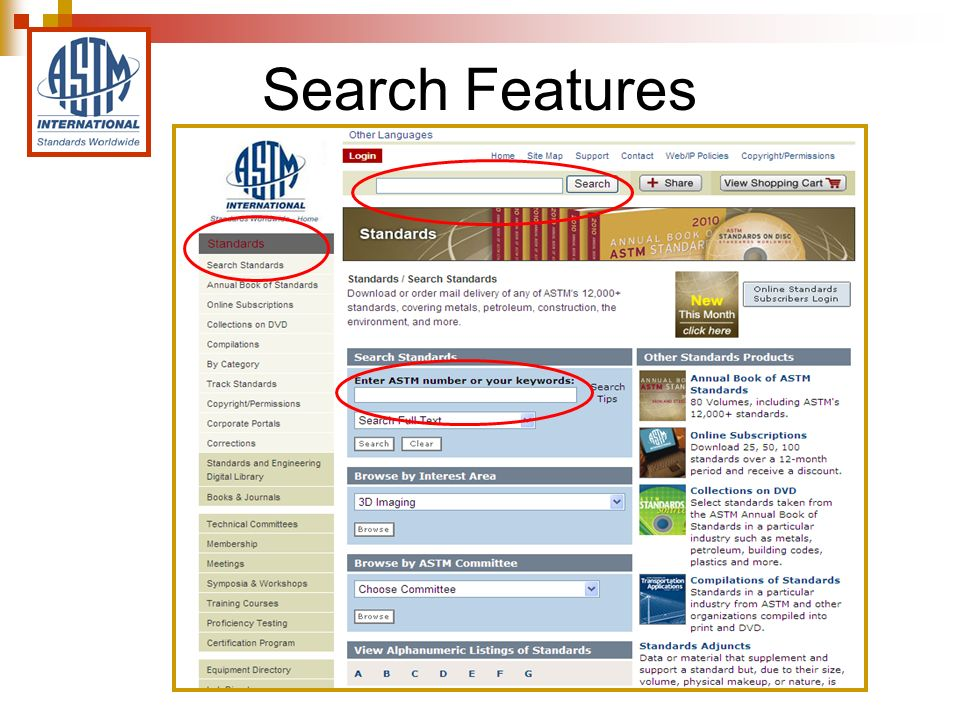 Search Features