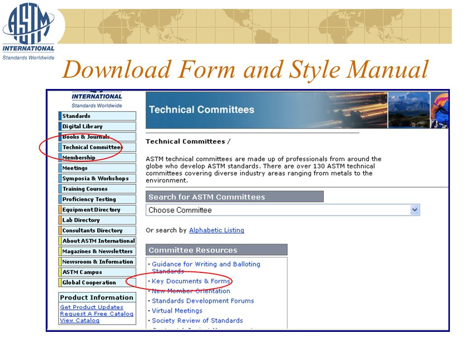 Download Form and Style Manual