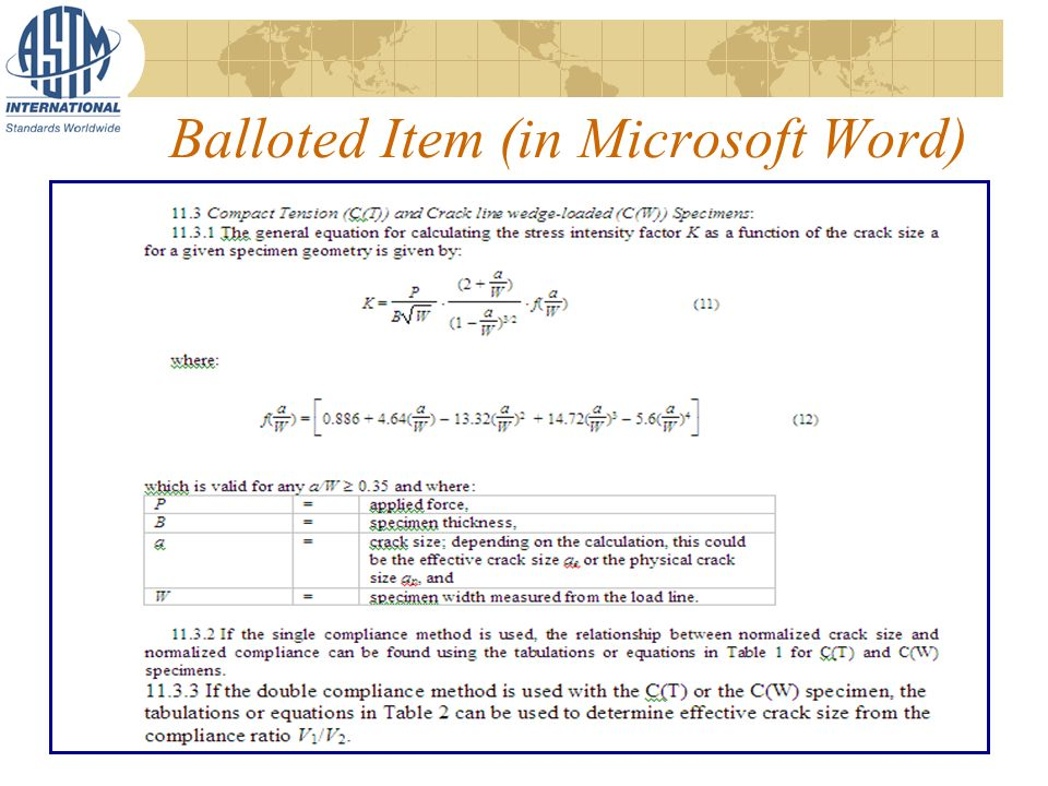 Balloted Item (in Microsoft Word)