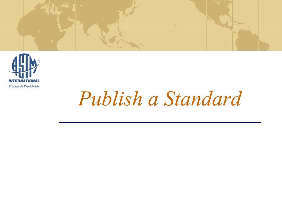 Publish a Standard