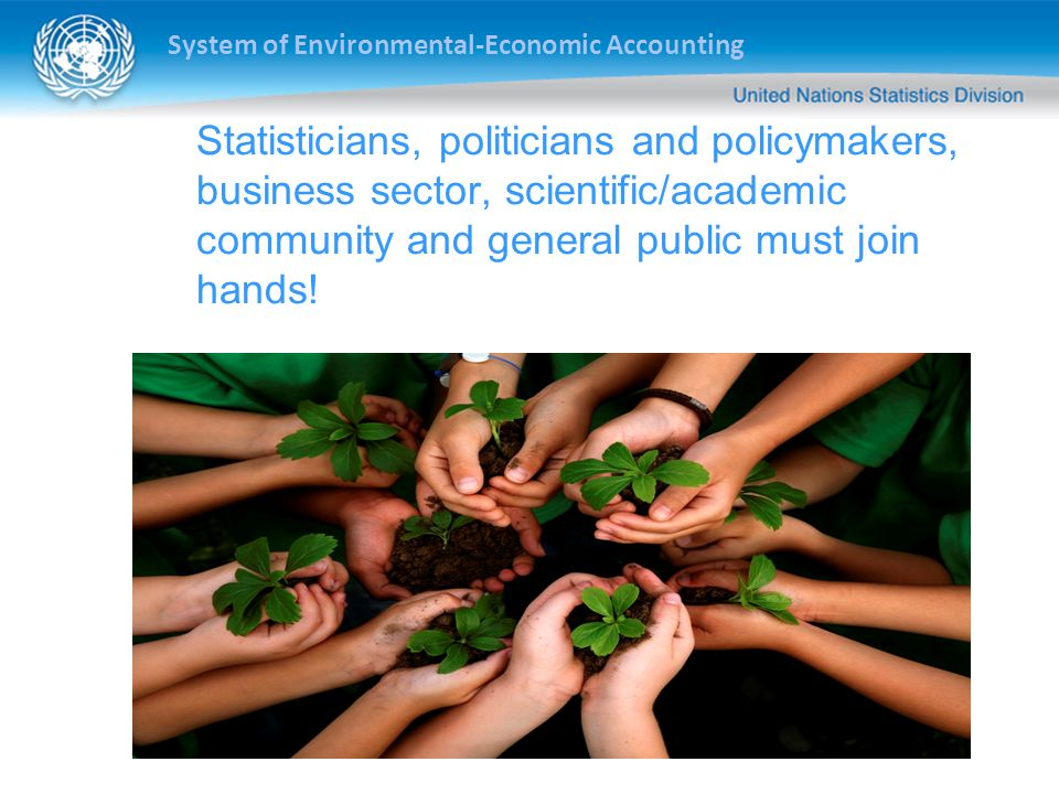 System of Environmental-Economic Accounting Statisticians, politicians and policymakers, business sector, scientific/academic community and general pu