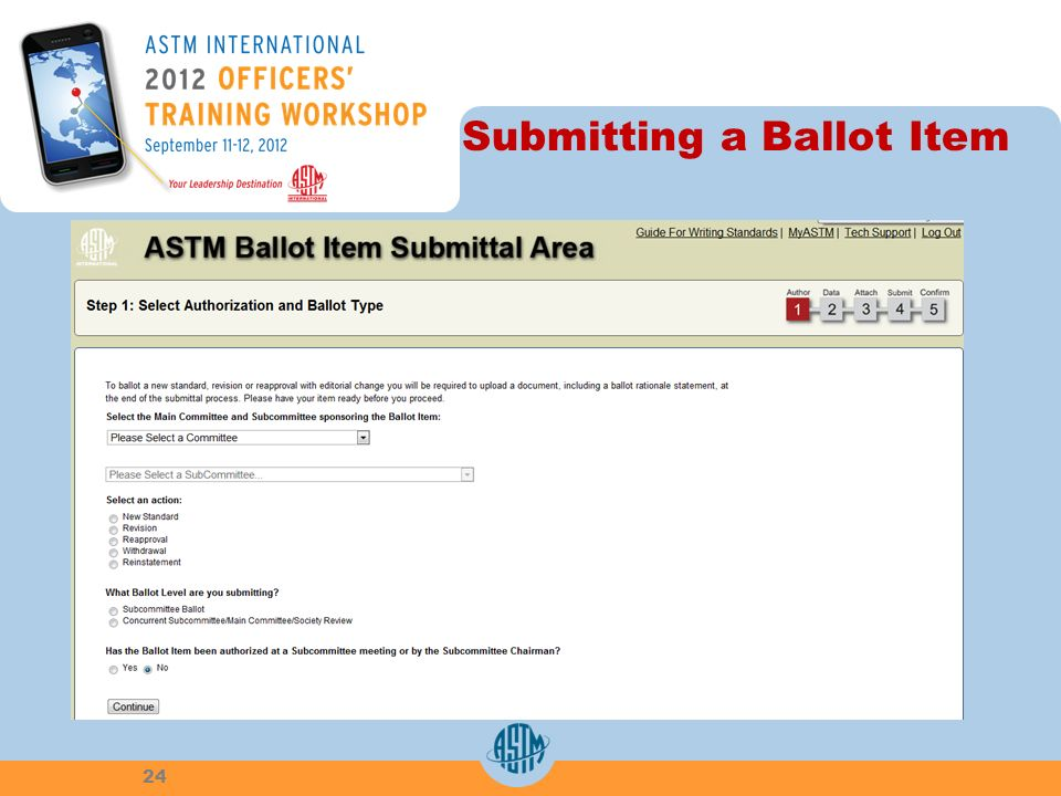 Submitting a Ballot Item 24
