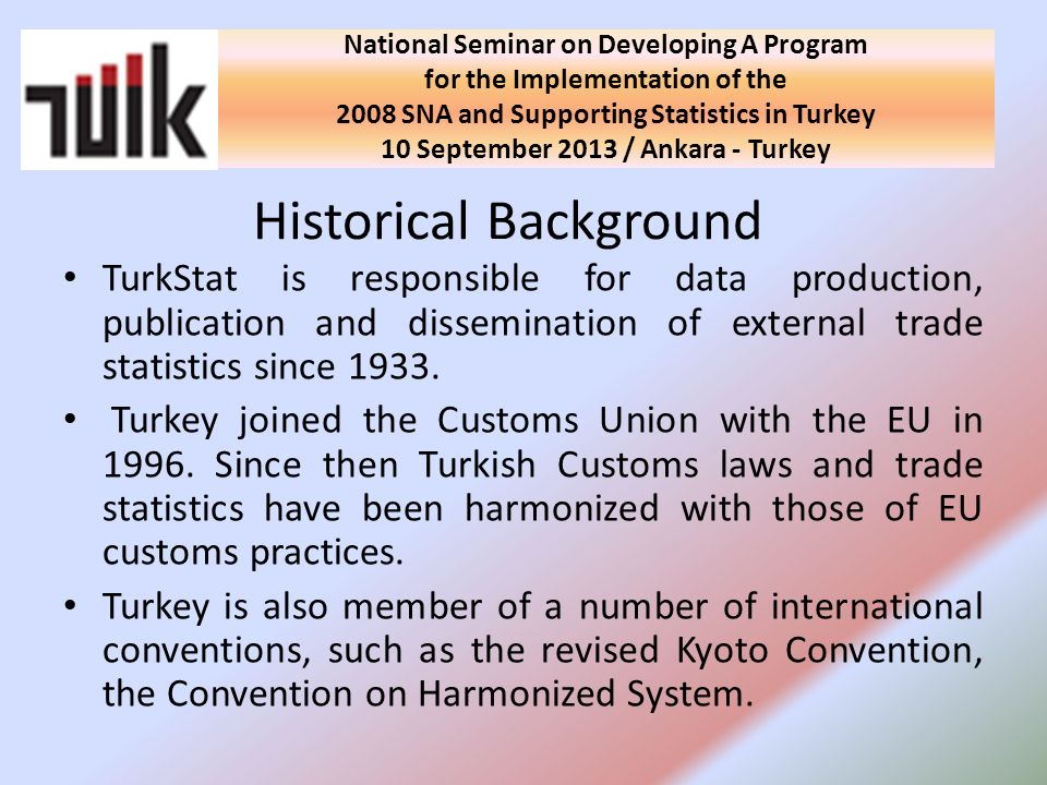 Directorate General of Civil Aviation sends all registers to TurkStat Records from Banking Regulation and Supervision Agency Ships / Aircrafts Specific Treatments Ships / Aircrafts National Seminar on Developing A Program for the Implementation of the 2008 SNA and Supporting Statistics in Turkey 10 September 2013 / Ankara - Turkey