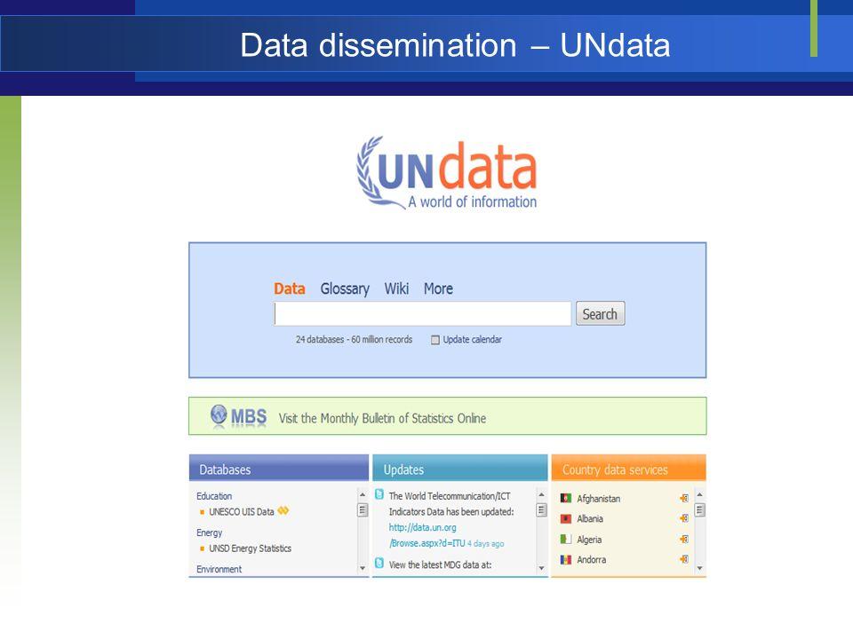 Data dissemination – UNdata