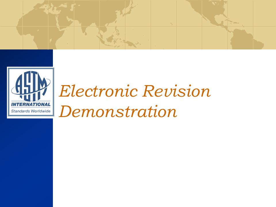 Electronic Revision Demonstration