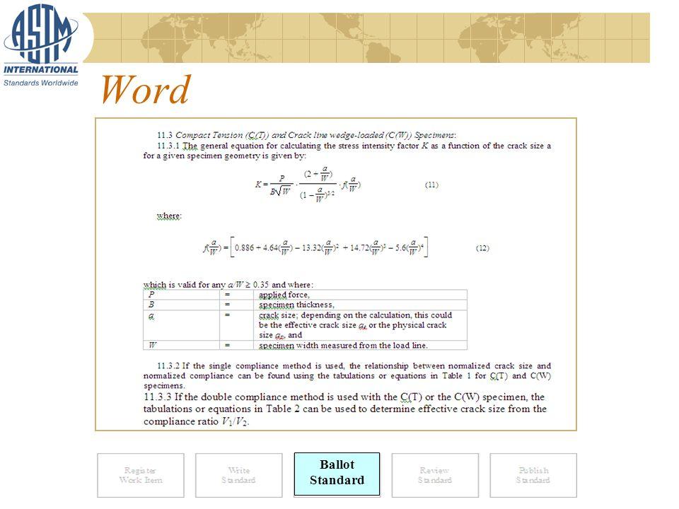 Word Ballot Standard