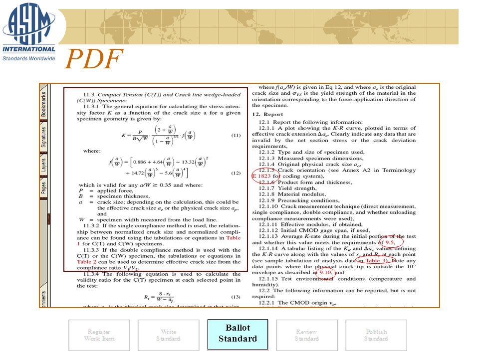 PDF Ballot Standard