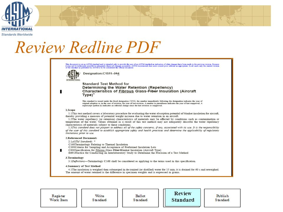 Review Redline PDF Review Standard