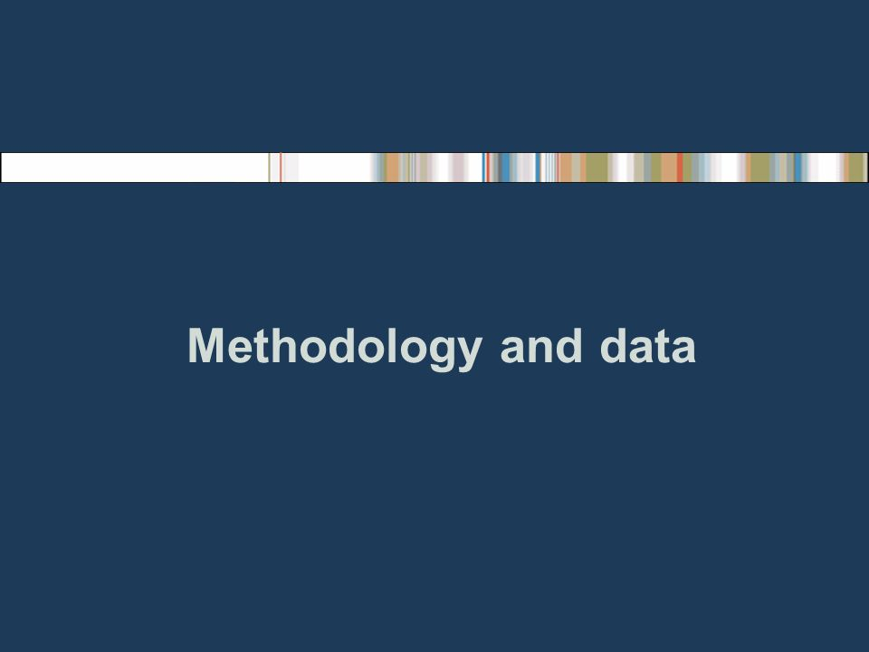 Methodology and data