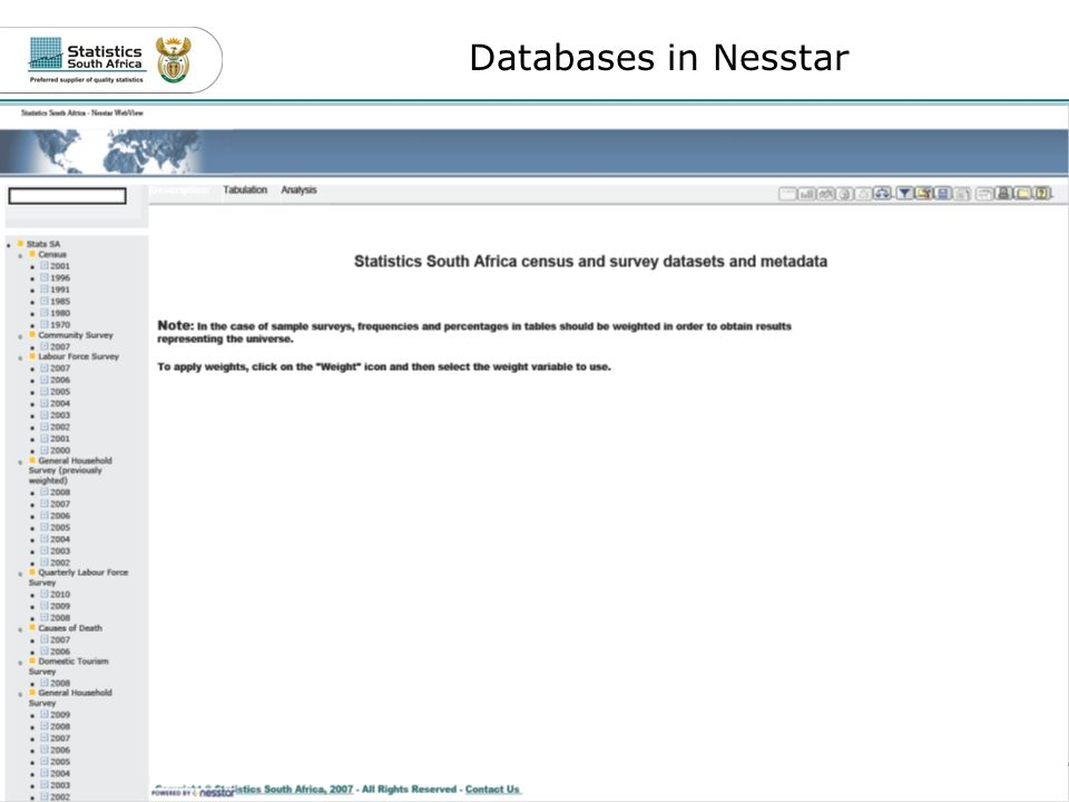 12Role of Metadata Databases in Nesstar