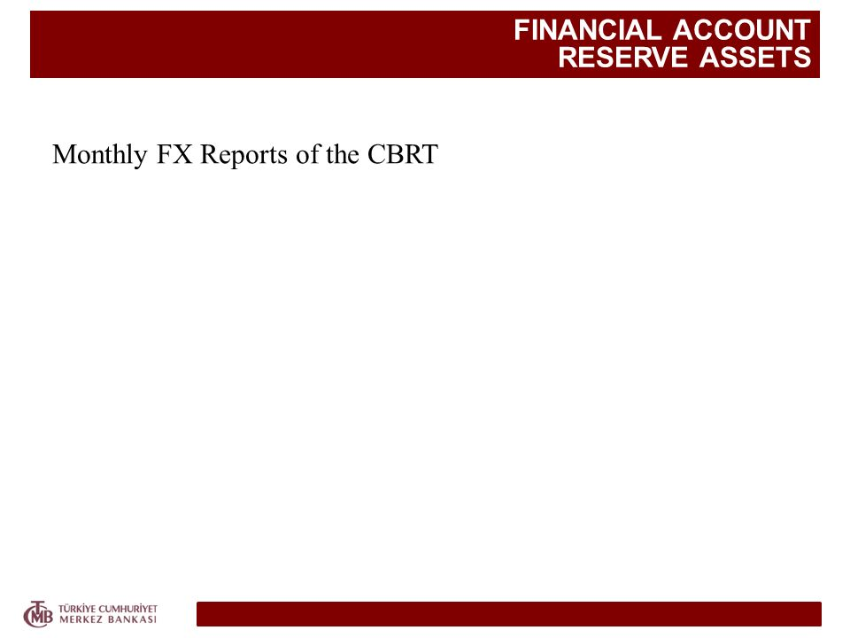 FINANCIAL ACCOUNT RESERVE ASSETS Monthly FX Reports of the CBRT