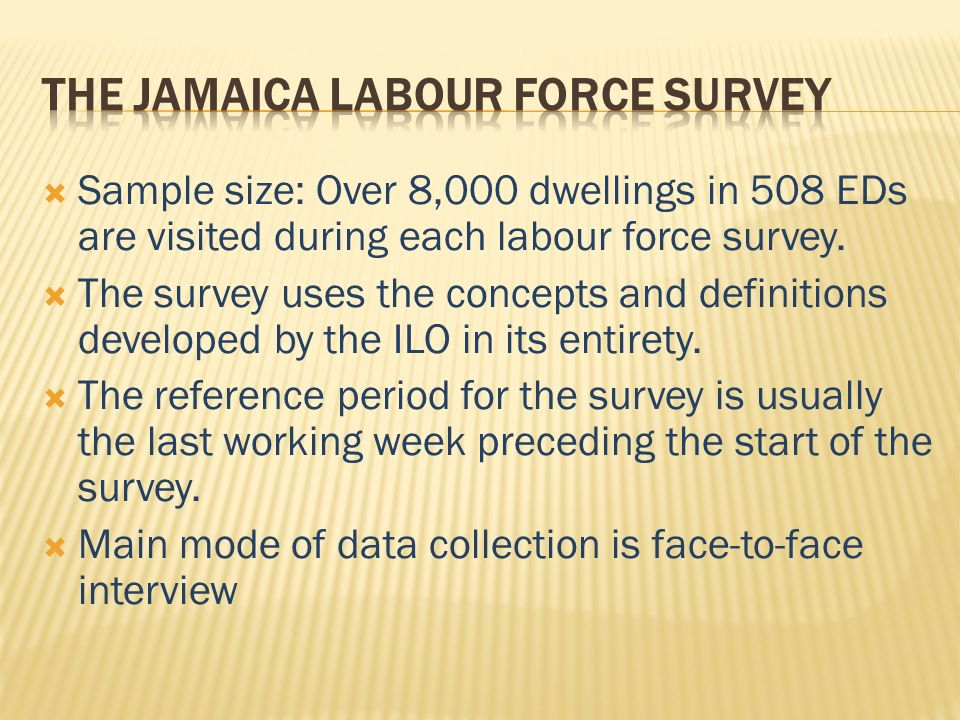 Sample size: Over 8,000 dwellings in 508 EDs are visited during each labour force survey.