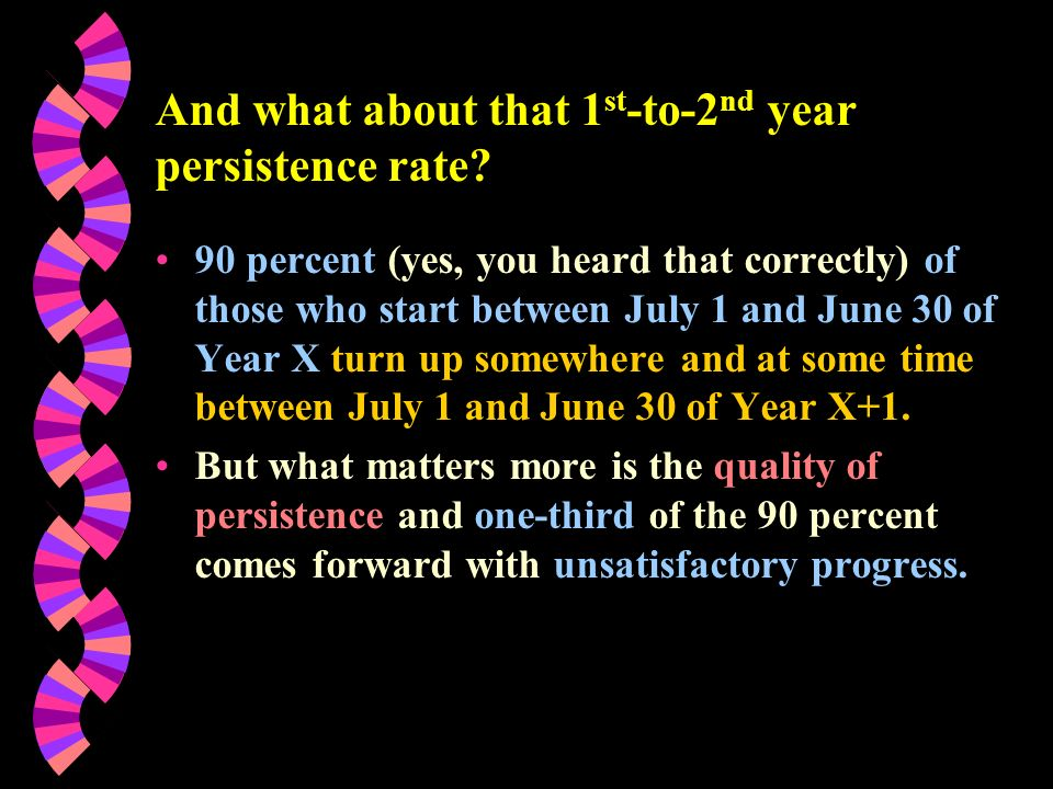 And what about that 1 st -to-2 nd year persistence rate.