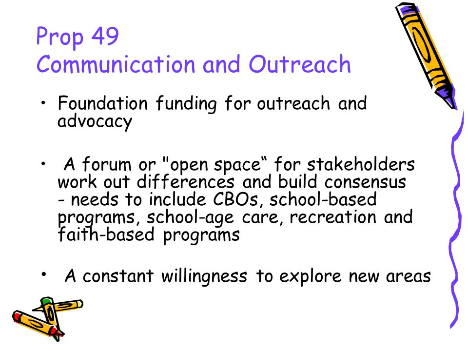 Foundation funding for outreach and advocacy A forum or