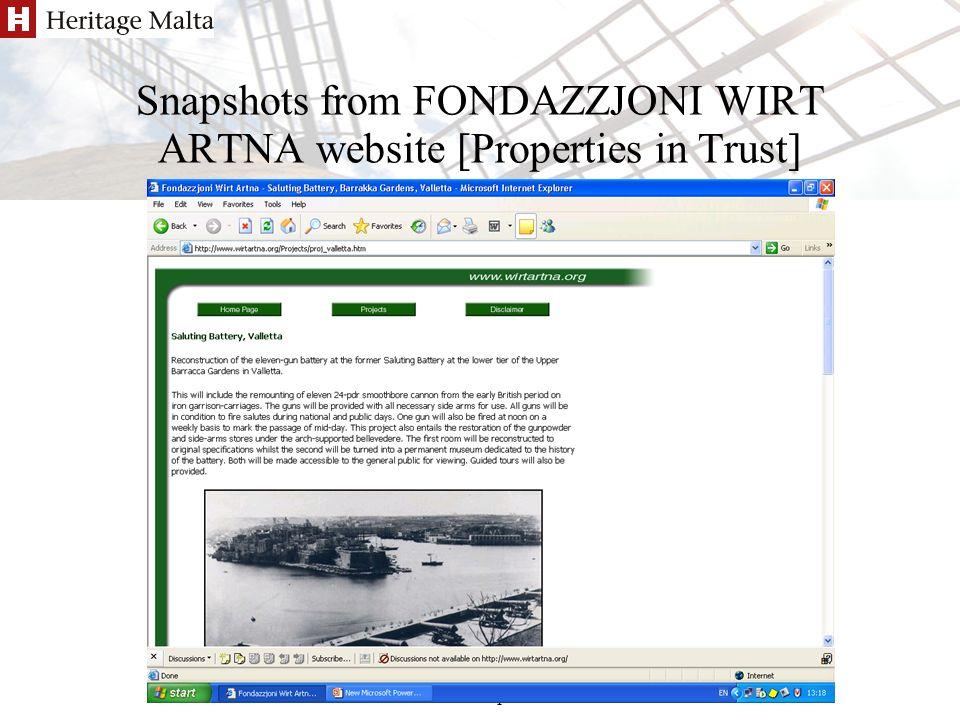 Antoinette Caruana/Pierre Sammut Berlin 7-8 Apr 2005 Snapshots from FONDAZZJONI WIRT ARTNA website [Properties in Trust]
