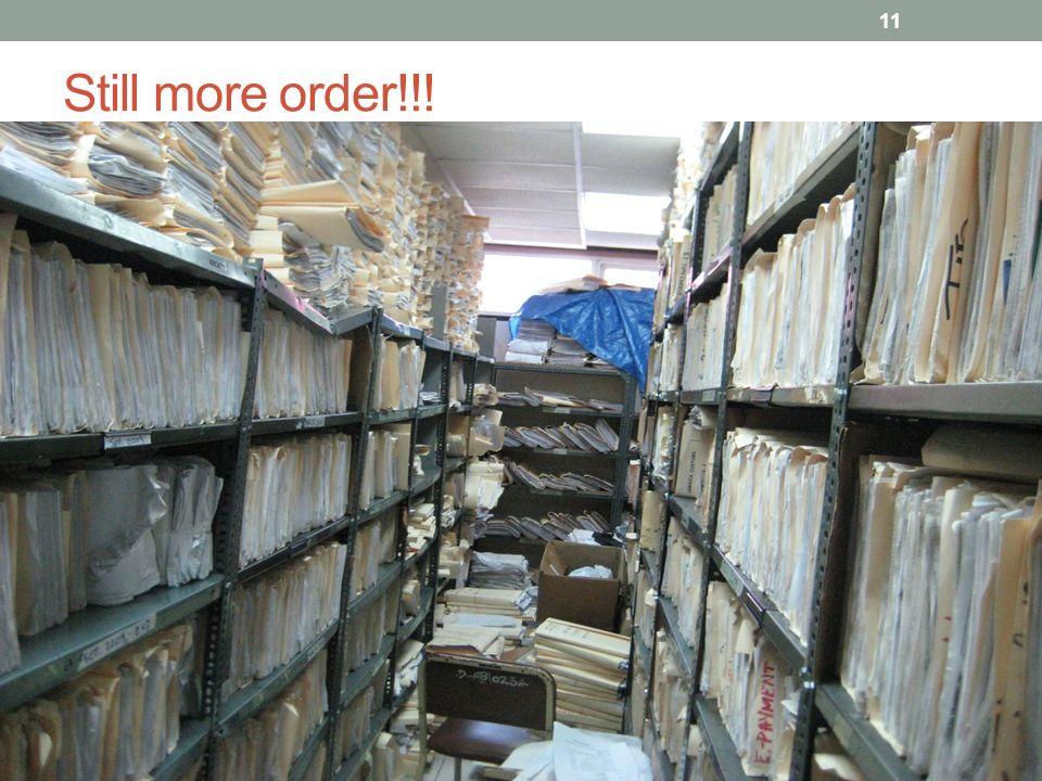 Still more order!!! 11