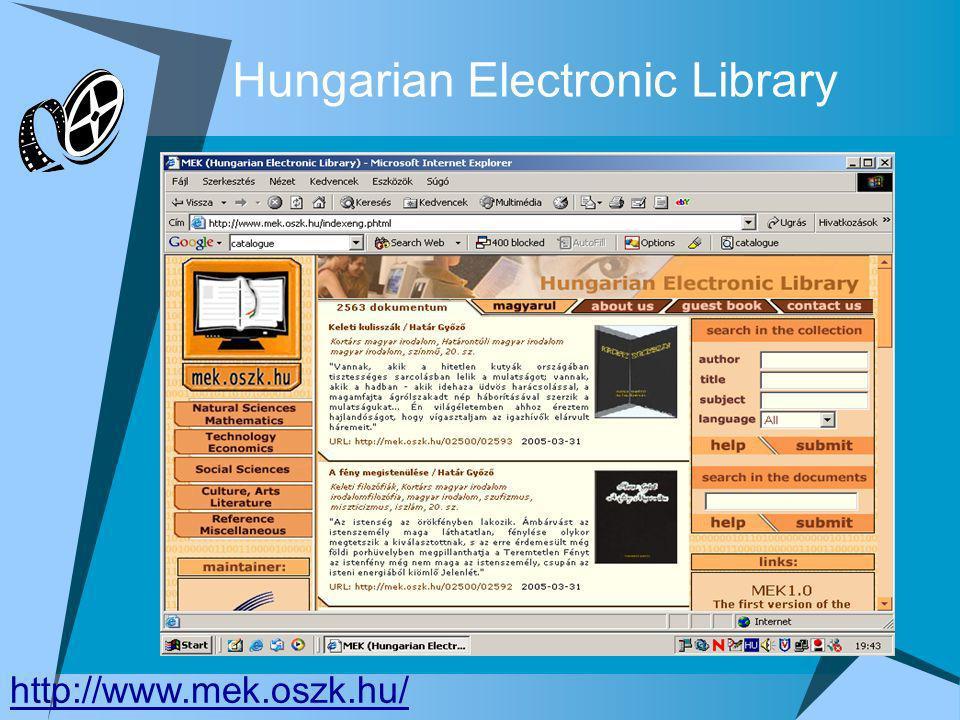 Hungarian Electronic Library http://www.mek.oszk.hu/
