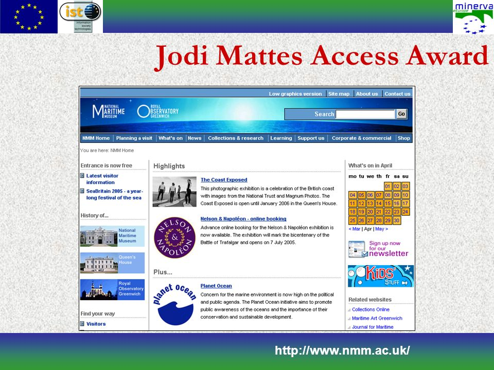 Jodi Mattes Access Award http://www.nmm.ac.uk/