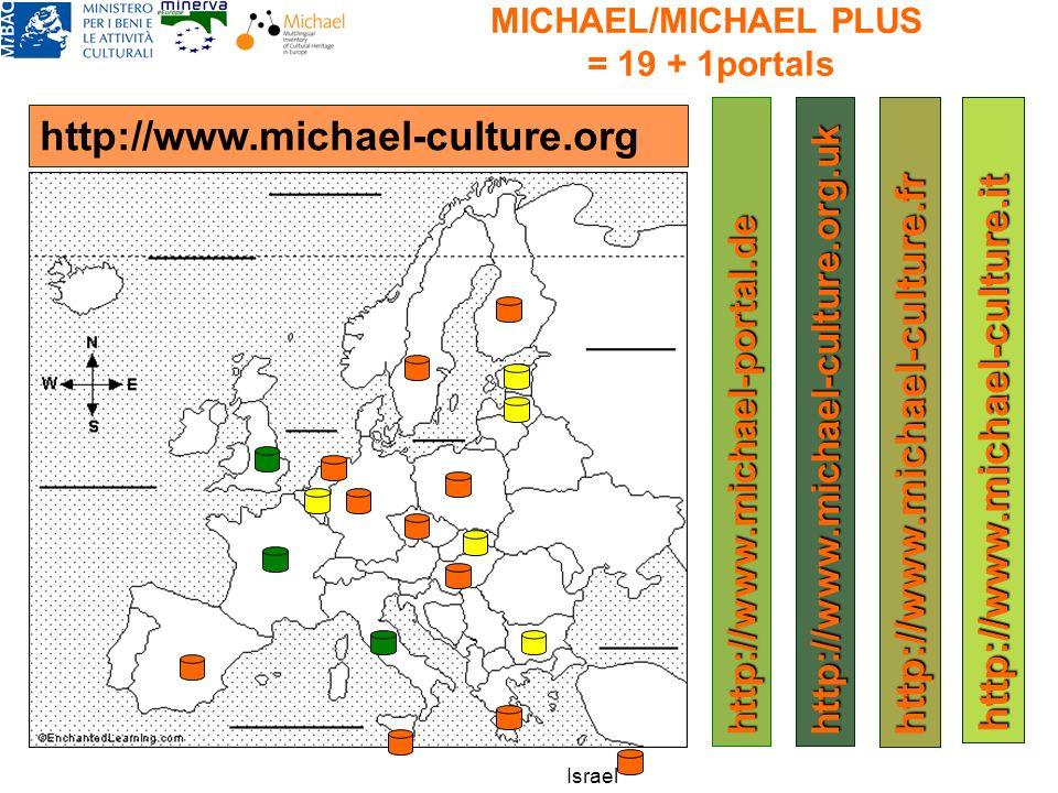 MICHAEL/MICHAEL PLUS = 19 + 1portals http://www.michael-culture.org http://www.michael-culture.org.uk http://www.michael-culture.fr http://www.michael-culture.it http://www.michael-portal.de Israel