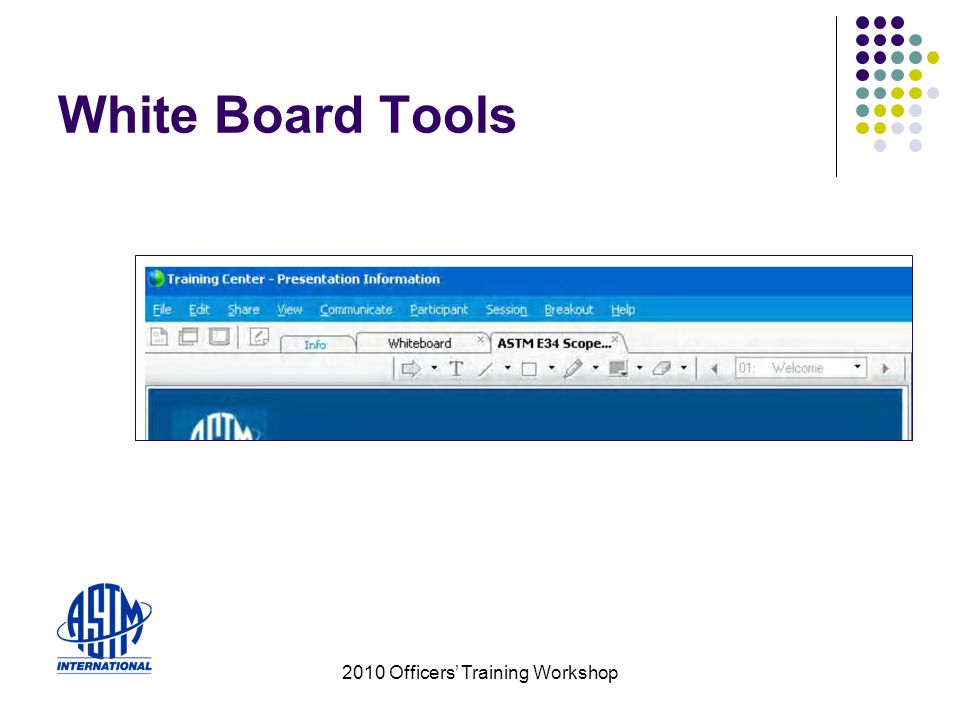 2010 Officers Training Workshop White Board Tools