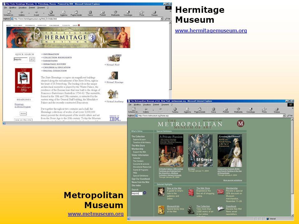 www.hermitagemuseum.org www.metmuseum.org Hermitage Museum Metropolitan Museum