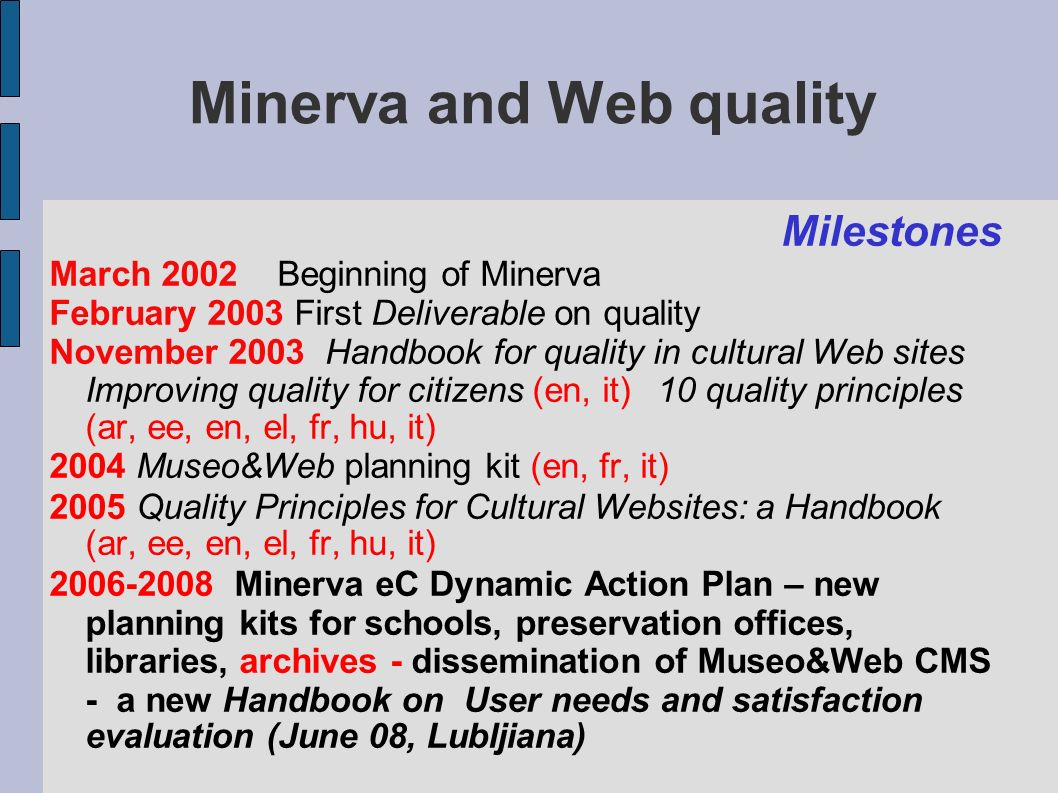 what about cultural Web quality.