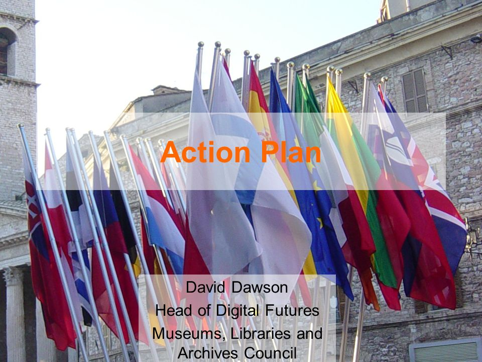 Action Plan David Dawson Head of Digital Futures Museums, Libraries and Archives Council