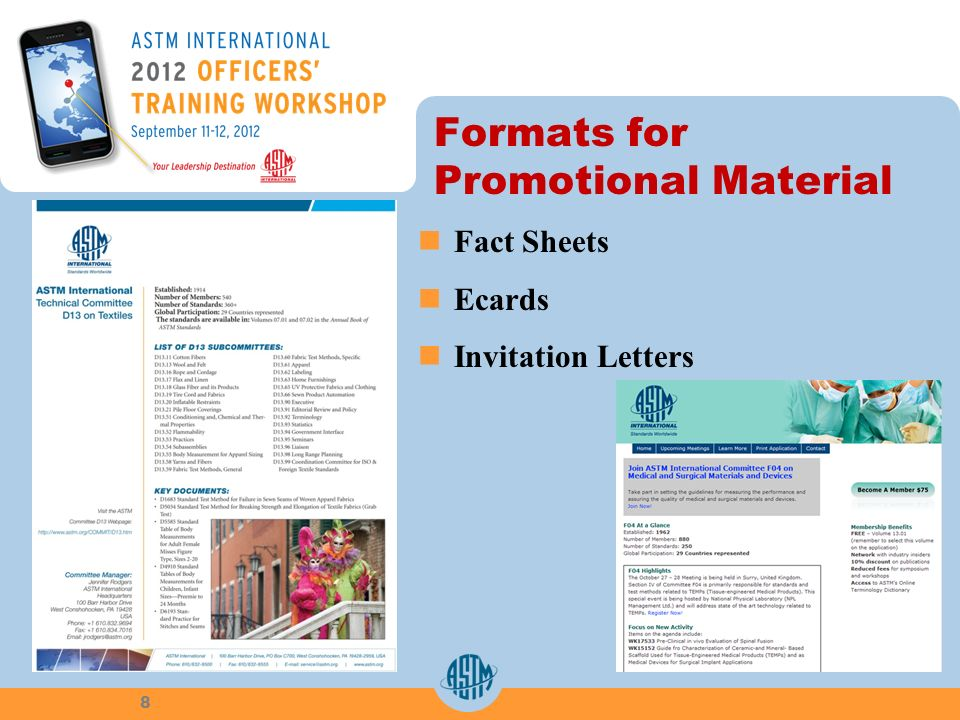 Formats for Promotional Material Fact Sheets Ecards Invitation Letters 8