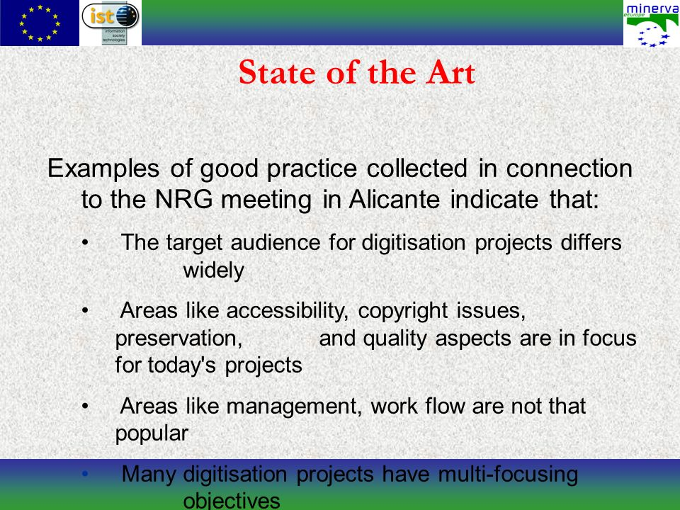 Objectives of the Handbook Aim: It should be an output containing a concrete, pragmatic set of guidelines.