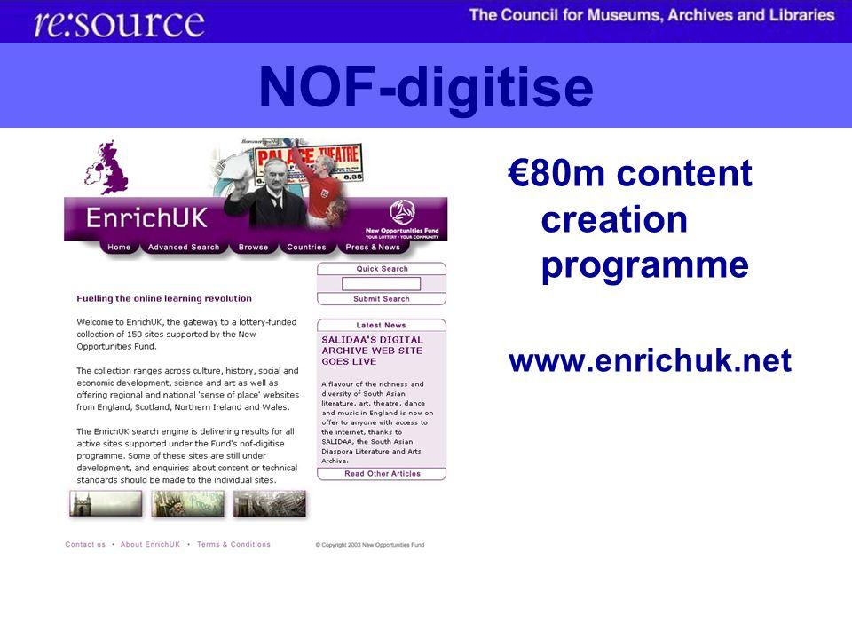 NOF-digitise 80m content creation programme www.enrichuk.net