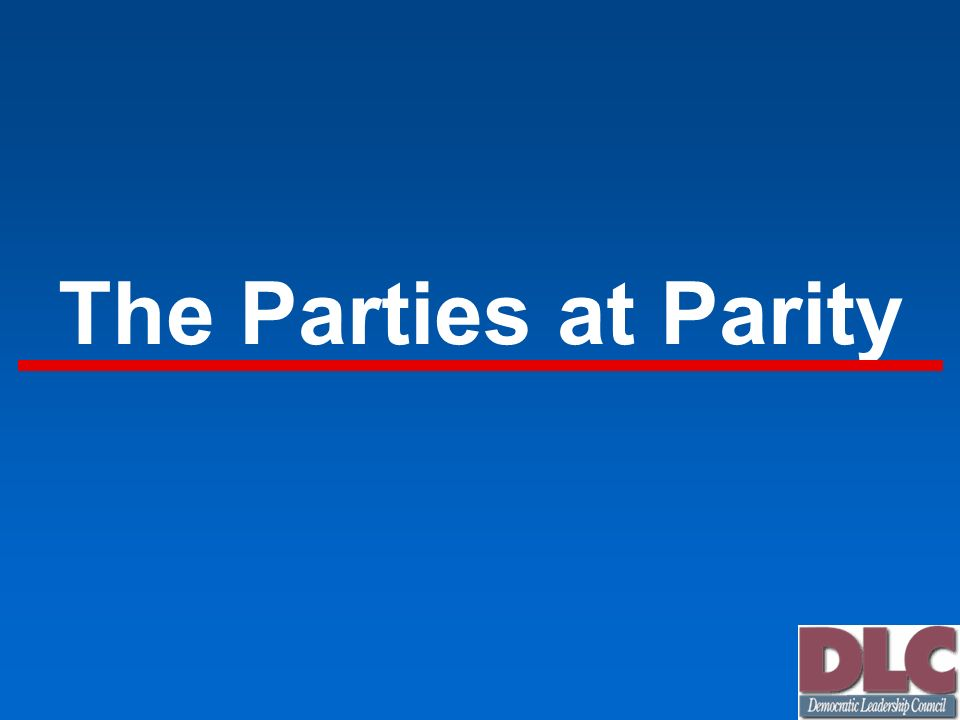 Parity in 2000 The Tie in American Politics