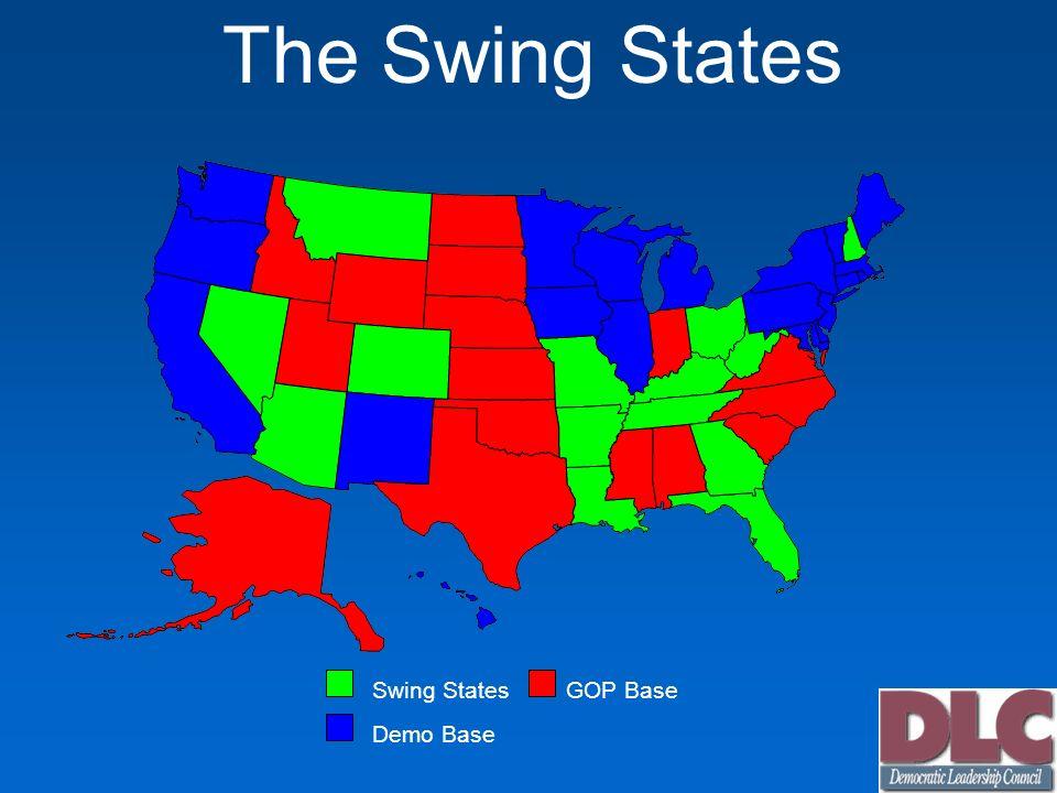 The Swing States Swing StatesGOP Base Demo Base