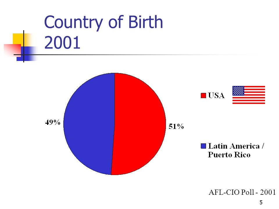 6 Hispanic Immigrant Voters Citizenship Year AFL-CIO Poll - 2001