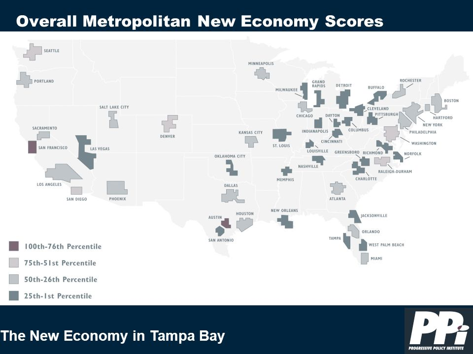 The New Economy in Tampa Bay Overall Metropolitan New Economy Scores